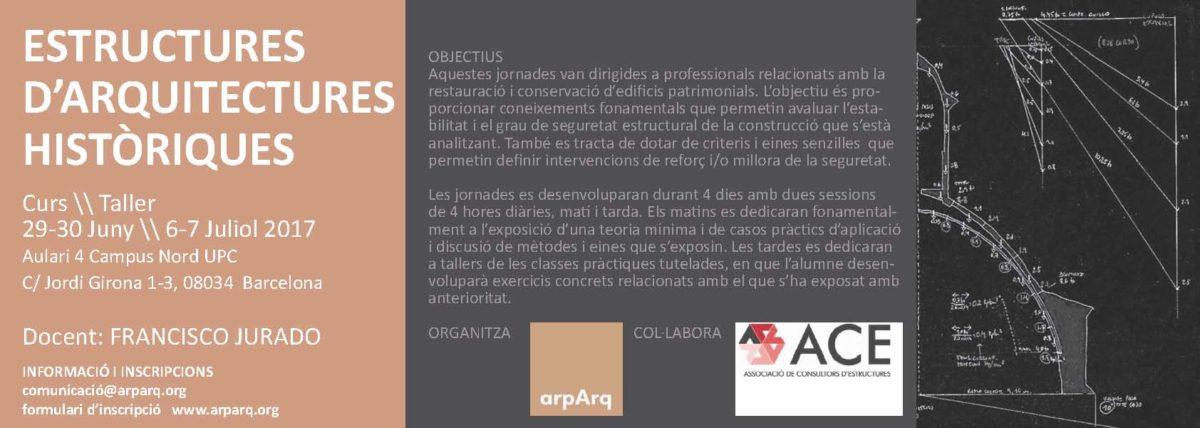 Curs-Taller sobre càlcul d'estructures d'Arquitectures Històriques_Barcelona