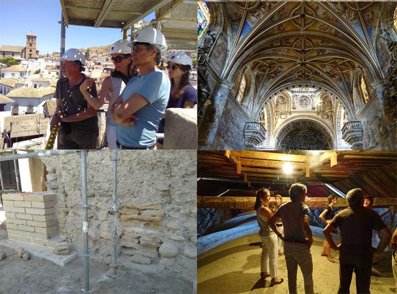 Visita d'obres a Granada: les antigues muralles a l'Albaicín amb Isabel Bestué i el monestir de San Jerónimo de amb Francisco Jurado