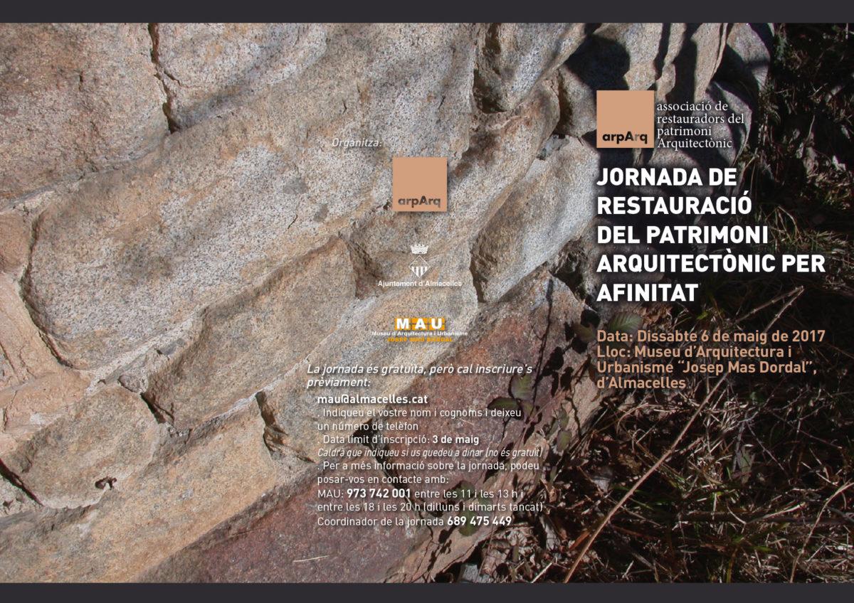 Jornada de restauració del patrimoni arquitectònic per afinitat
